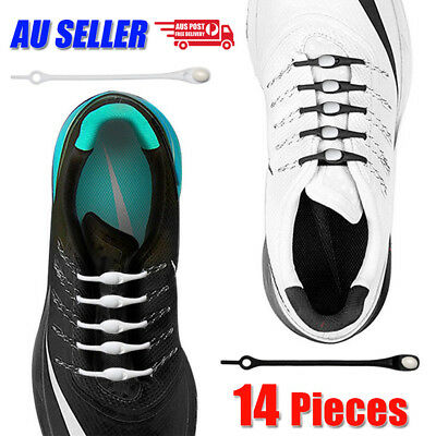 No Tie Silicone Shoelaces Elastic Loop N Lock Adult Sneaker Runner Shoe Laces