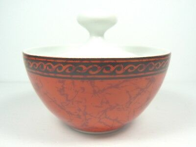 Block Bidasoa Sugar Bowl Espana Flamenco Red Minimalist Modern Vtg 1969