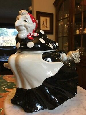 Vintage Fitz And Floyd Witch Cookie Jar Halloween Hand Painted