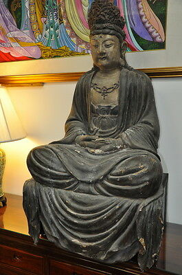 Antique Wooden Figure Of Guanyin