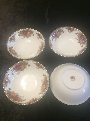 Royal Albert Old Country Roses Bowls X 4 Excellent Condition