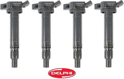 4 X Ignition Coil on Plug Delphi REPLACE OEM# 9091902250 for Lexus Scion Toyota