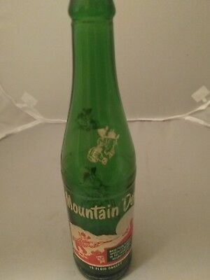 Vintage Mountain Dew 10 oz Green Glass Soda Bottle