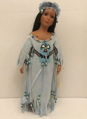 Show-Stoppers Collectible Porcelain Native American Doll Whispering Dove w/ Tag