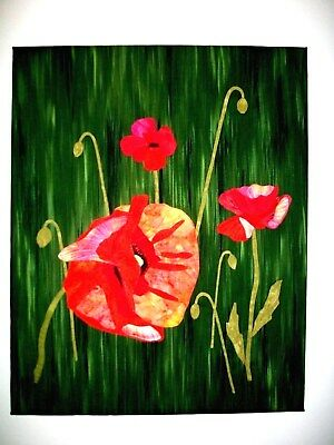 Art Quilt Entitled Field Poppies