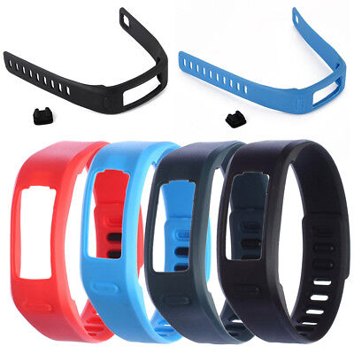 Silicone Bracelet w/ Clasp Replacement Wristband Band Strap for Garmin Vivofit 1