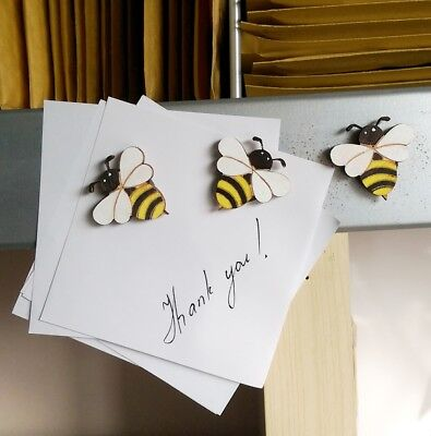 Cute bees fridge,memo,decor strong magnets.Set of 3 Little gift idea Good price