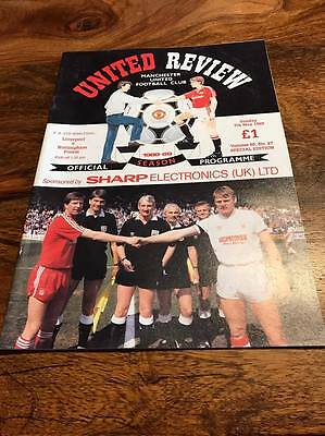 Liverpool V Nottingham Forest 1989 Fa Cup Semi Final Replay Programme Free Post