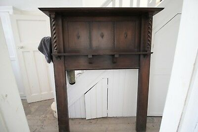 Vintage Edwardian wooden fire surround in very good condition