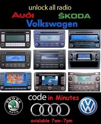 VW radio unlock code for RCD310 RCD510 RNS300 RNS310 RNS315 | Very fast service