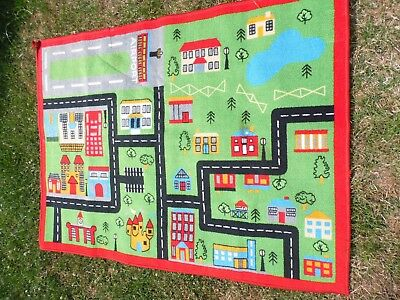 "large children's carpet rug playmat for indoor or outdoors 39.5 x 52"" good cond"