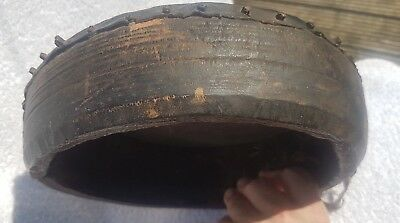 OLD Ethnic Tribal Antique Drum Tambourine Red Indian Native African Asian? Rare