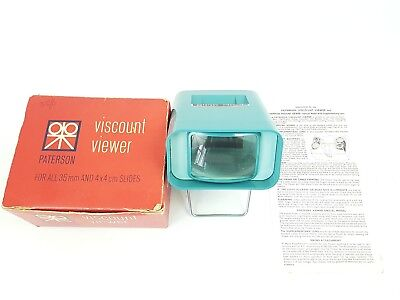 Paterson Viscount Slide Viewer Vintage for 35mm 4x4 cm With Original Box