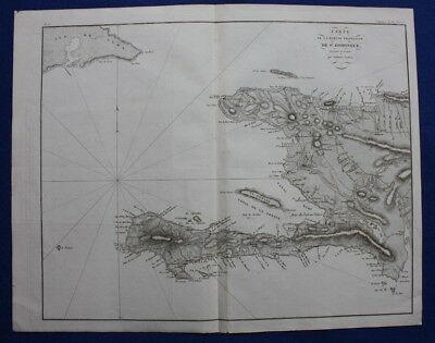 Original antique map, HISPANIOLA, HAITI, ST DOMINGUE, Tardieu, c.1820