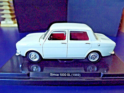Simca 1000 Sl, Bj. 1969, 1:24, Burago? sehr detailgetreues Metall Modell