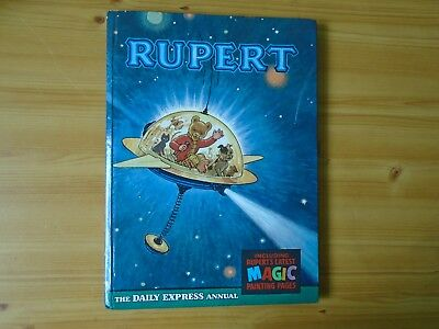 1966 Rupert Annual with Magic Paintings Untouched in Fine Condition