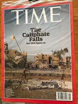 New Sealed TIME Magazine 6 Nov 2017 THE CALIPHATE FALLS, ISIS FIGHTS ON - RARE!