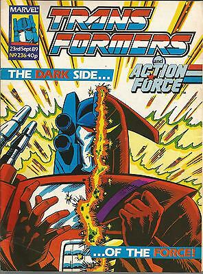 Marvel Comics 1989 TRANSFORMERS Issue 236 **FREE POSTAGE** Deals for Multibuys