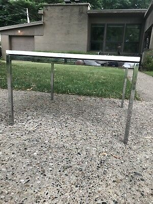 "Florence Knoll Authentic Saarinen Coffee Side Table 27"" Marble End White Chrome"