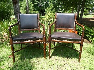 Pair Vintage JAMES RIVER REGENCY Hickory Chair Company