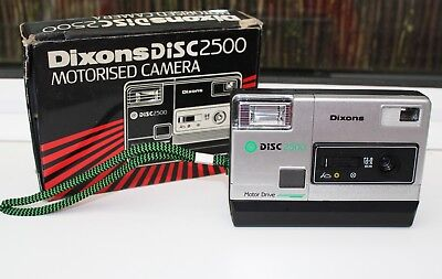 Vintage 1980's Dixon's Disc 2500 Motorised Camera.