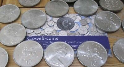 UK Royal Mint BUNC Large old size 10p Ten Pence 1968 - 1979 Choose your years