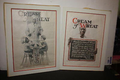 2 Cream of Wheat Rastus Prints painted by Edward V Brewer