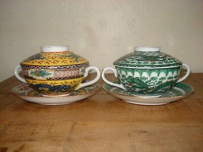 4xchinese early 20th century teapot set