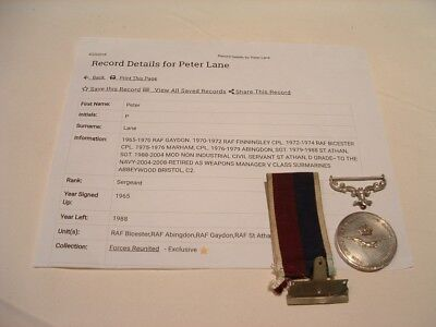Medal Long Service Good Conduct Raf Named With Research