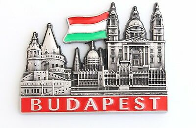 Unique Style Metal Fridge Magnet Home Decor Holiday Souvenir Gift from Budapest