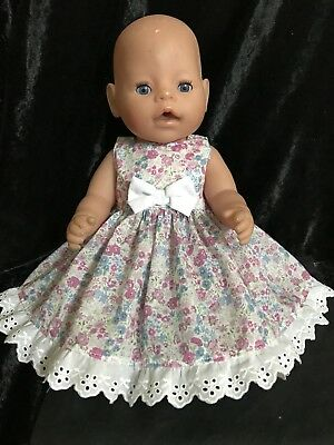 dolls clothes made to fit 42cm Baby Born Dolls (size Med). Sleeveless Dress