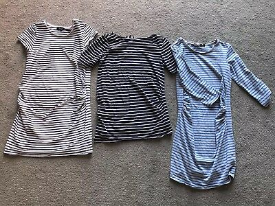Maternity Stripey Top Bundle - 3 X New Look Maternity Tops Size 12