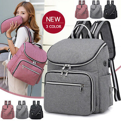 UK Large Capacity Mummy Diaper Bags Baby Nappy Large Backpack Changing Bag