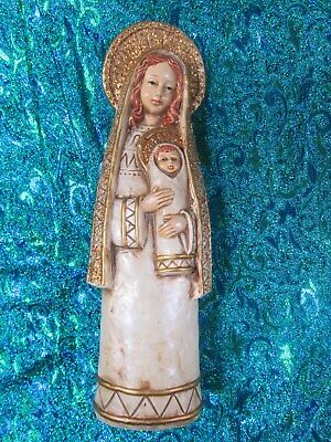 VINTAGE MODERN MADONNA AND CHILD   VIRGIN MARY AND BABY JESUS figurine