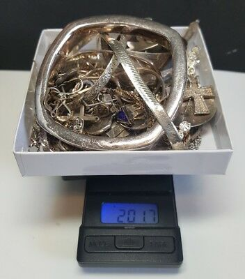 Wholesale 201.7 Grams Sterling Silver Jewelry Lot Wear Scrap Resale