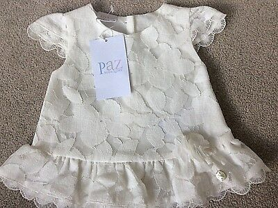 BNWT Paz Rodriguez Baby Girls Lace Summer Top Blouse 0-3months
