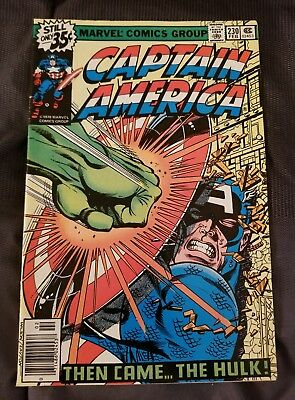 Marvel Comics Captain America #230 Very Good Condition Comic Book Must See