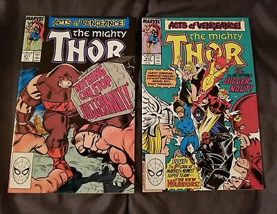 Marvel Comics The Mighty Thor #411, 412 Very Fine High Grade Condition 1989