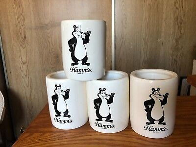 4 Vintage HAMM'S BEAR Beer Can Coolers