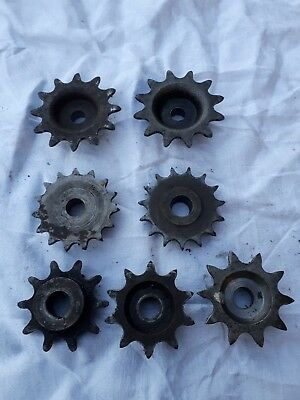 stationary engine, magneto, magneto sprockets, old engine