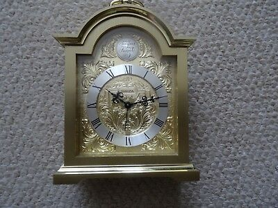 Large Swiza 8 Day Tempus Fugit Carriage / Alarm Clock, Swiss Wind Up 155 X 110Mm