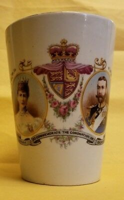 CWS (C.W.S.) Labor and Wait LONGTON George V. Commemoration cup mug glass coxhoe
