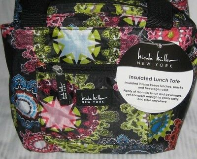 Nicole Miller Of New York Insulated Lunch Cooler Tote Fashion Bag