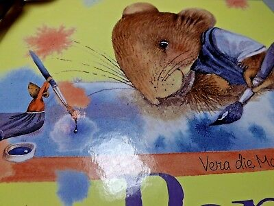 Marjolein Bastin~VERA THE MOUSE-Popje Wird 16 pages-Hard back book