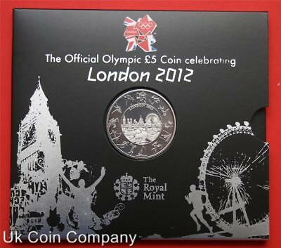 2012 London Olympics Royal Mint Brilliant Uncirculated £5 Crown Coin Sealed Pack