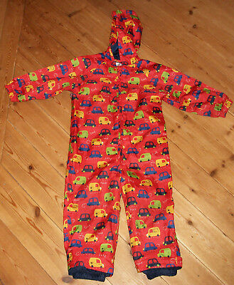 Red Mothercare rainsuit / puddlesuit / all-in-one size 18-24 months  navy lining