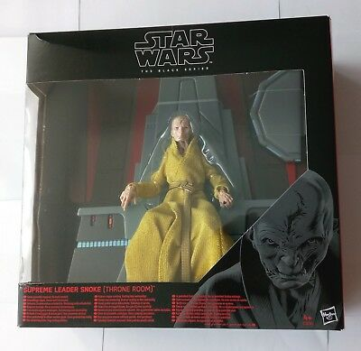 "Star Wars Supreme Leader SNOKE Throne Room Black Series 6"" Hasbro LAST JEDI MIB"