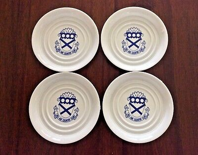 Vintage Set Of 4 Coasters Bel-Air Country Club California Mancave Barware Golf