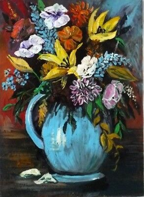 Beautiful Floral Still  life Original Painting by B Higgins