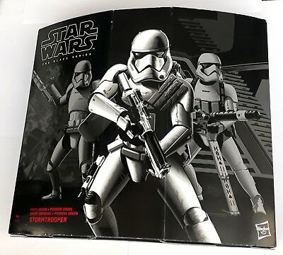"Star Wars STORMTROOPER with GEAR Black Series 6"" Hasbro Deluxe Squad Leader EU"